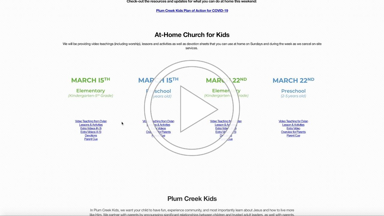 COVID-19 Plum Creek Kids Site