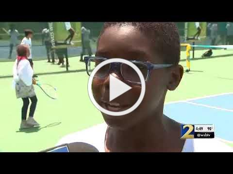 Tennis Icon Venus Williams' Visit to the South Fulton Tennis Center