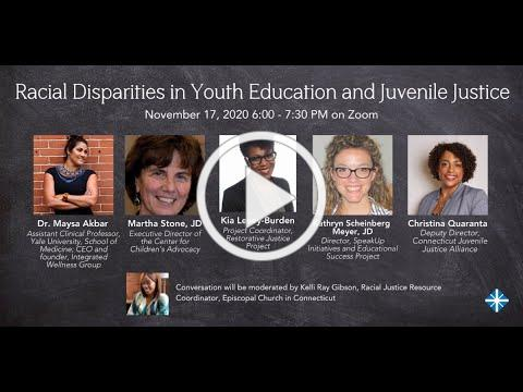 Racial Disparities in Youth Education and Juvenile Justice - November 17