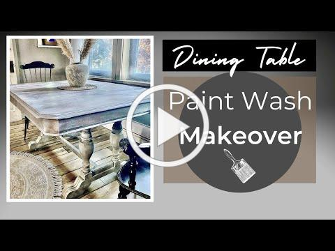 Easy Paint Wash Technique   Old Dining Table Makeover Ideas
