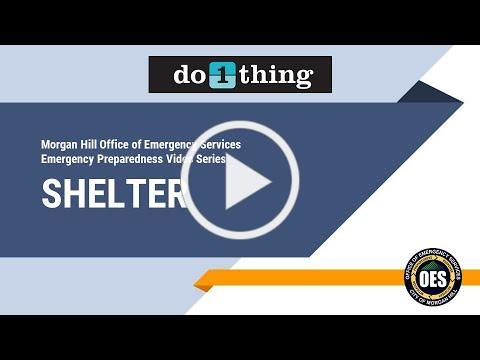 """Morgan Hill OES """"Do 1 Thing"""" - Shelter"""