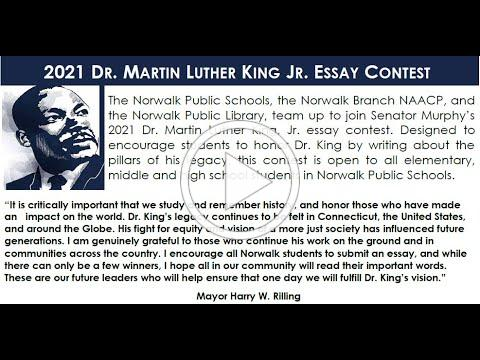 2021 Dr. Martin Luther King Jr Essay Contest