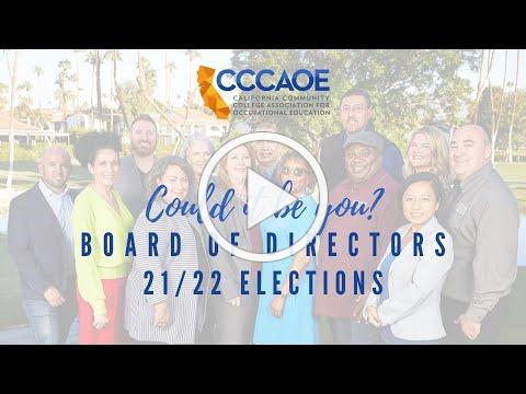 Becoming a Board Member - CCCAOE Nomination Forum