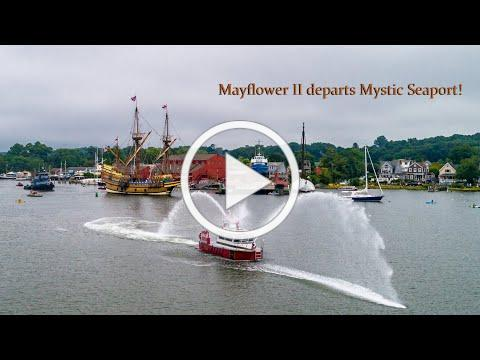 Mayflower II departs Mystic Seaport!