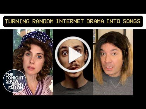 Turning Random Internet Drama into Songs Part 4 with Lubalin and Alison Brie