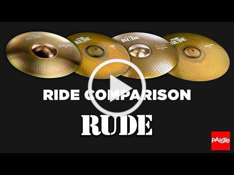PAISTE CYMBALS - Comparison (RUDE Ride's)