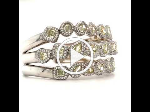 MDJ Advantage - 23.80 cttw Natural Fancy Color Diamond Bangle - Dominic Mainella - 4009695