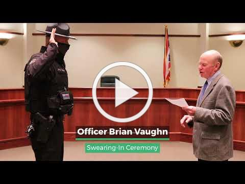 2021 Amberley Village Officer Brian Vaughn Swearing In