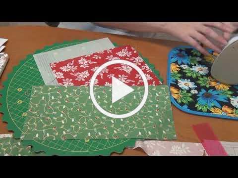 How to Foundation Paper Piece Santa's Hat Shop Block