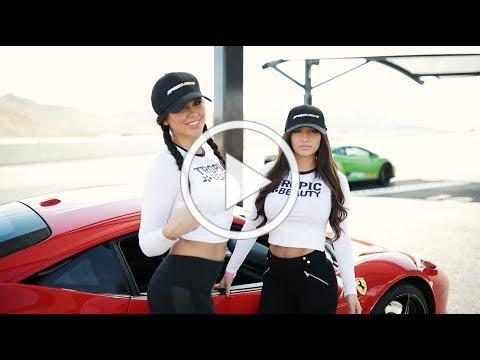 Hot Girls Race Ferrari + Lambo in Vegas