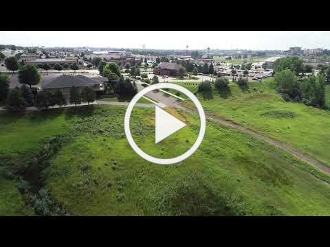 Drone footage of proposed Bismarck, N.D., park site. Ducks Unlimited