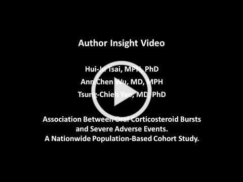 Association Between Oral Corticosteroid Bursts and Severe Adverse Events