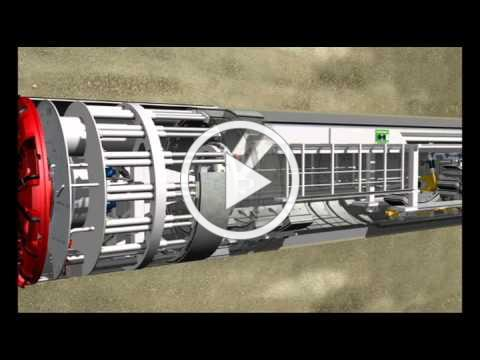 Tunnel Boring Machine Operation -- Animation