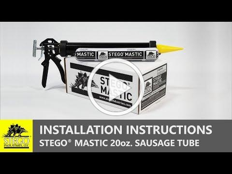 STEGO MASTIC | Tips on How to Use a Sausage Caulking Gun