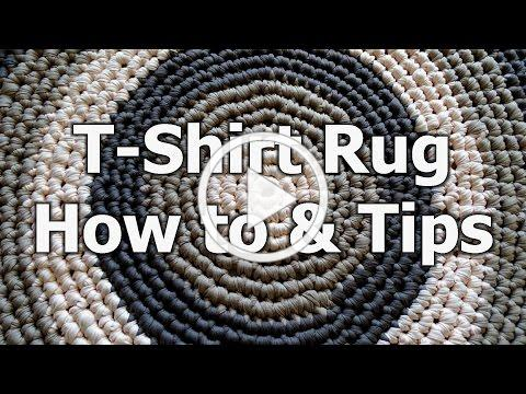 Crochet T Shirt Yarn Rug - How to & tips - Crochet Tutorial