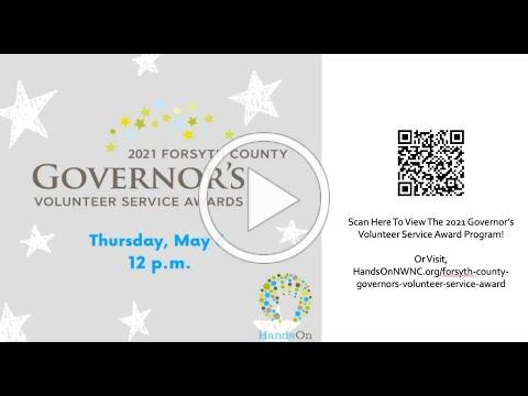 2021 Governor's Volunteer Service Award Event- May 6, 2021