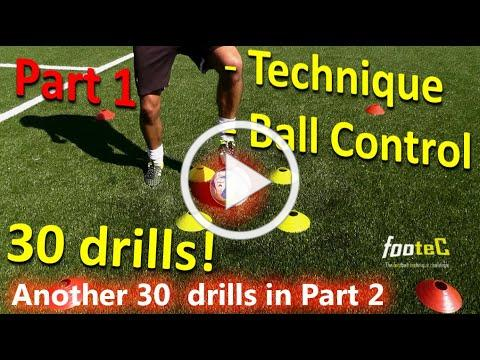 Ball Mastery l Coerver Coaching & Soccer Drills HOMEWORK Part 1 - 30 *GREAT* drills for Ball Control