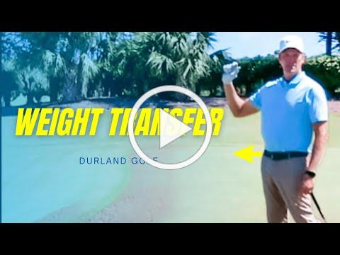 GOLF TIP | How To Hit A Golf Ball Solid - Weight Transfer