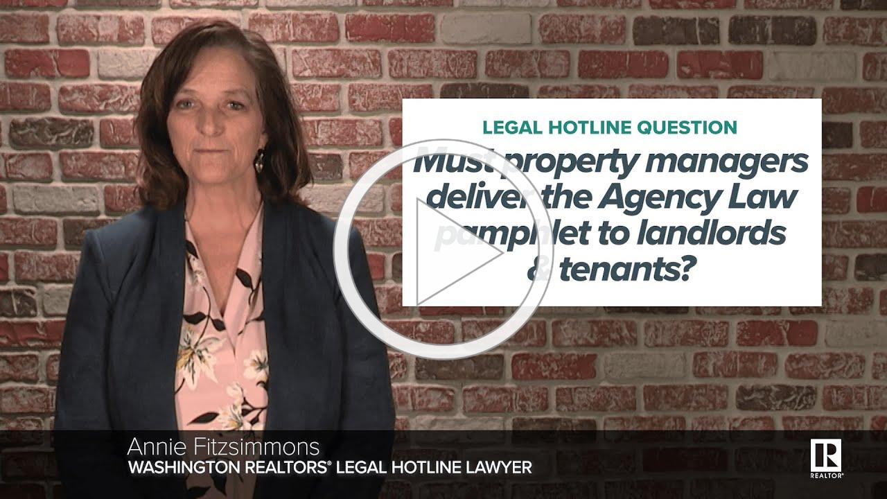 Do you have to send landlords and tenants the Agency Law pamphlet?