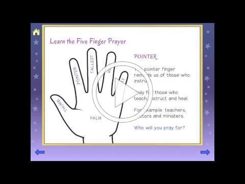 FIVE FINGER PRAYER   Teach Kids to Pray