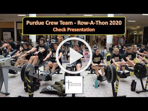 Purdue Crew - Row-A-Thon Check Presentation