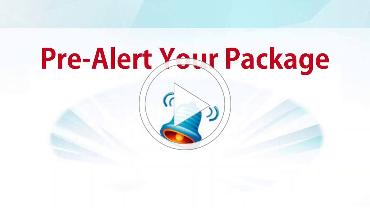 How to Pre Alert a Package