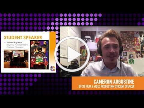 Cameron Augustine, SVCTE Film & Video Production Student Testimonial