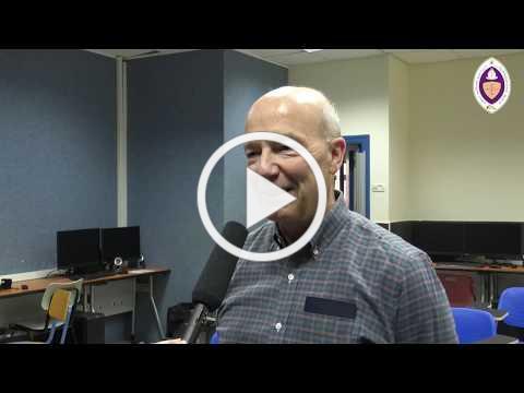 Christ School media students interview with John Lent of AFEDJ