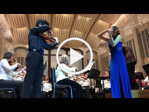 Lizzy Huang and partner playing Navarra's Sarasata at Severance Hall