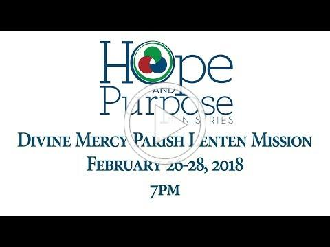Lenten Mission at Divine Mercy Parish in Kenner Invitation