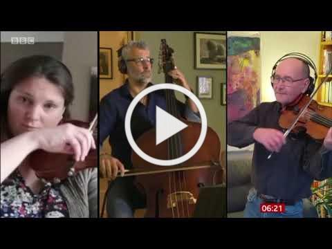 Paul Harvey and the BBC Philharmonic playing Four Notes - Paul's Tune on BBC Breakfast (26/10/20)