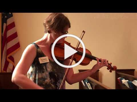 Bourree by J.S. Bach, played by Danyelle Phelps, violin, at St. Augustine's Anglican