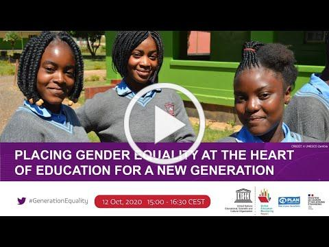 Placing gender equality at the heart of education for a new generation