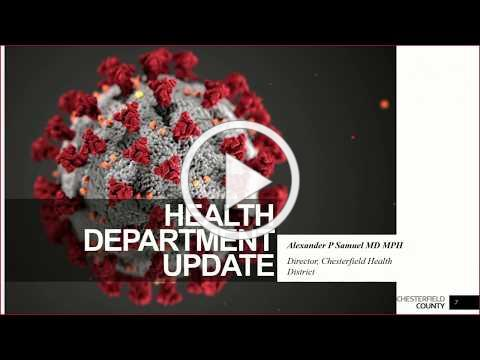 Board of Supervisors 5/27/2020 Chesterfield Health District COVID-19 Update.