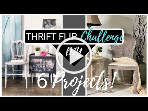 Chalk Paint Thrift Flip   Trash to Treasure with Chalk Paint Challenge