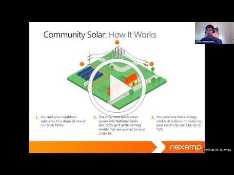 NEXAMP Solar Presentation 8/25/2020