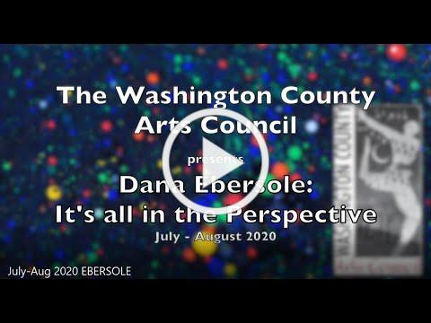 Artist Dana Ebersole in the Hall Gallery at the Washington County Arts Council