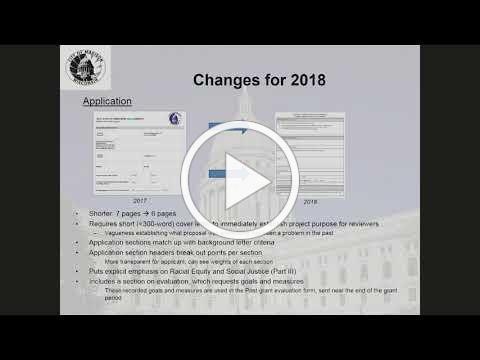 2018 SEED Grants