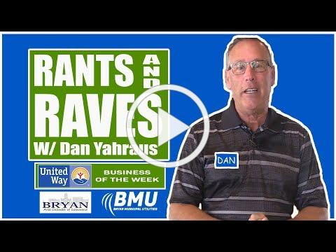 Rants and Raves w/ Dan Yahraus - United Way of Williams County - 01/08/2019