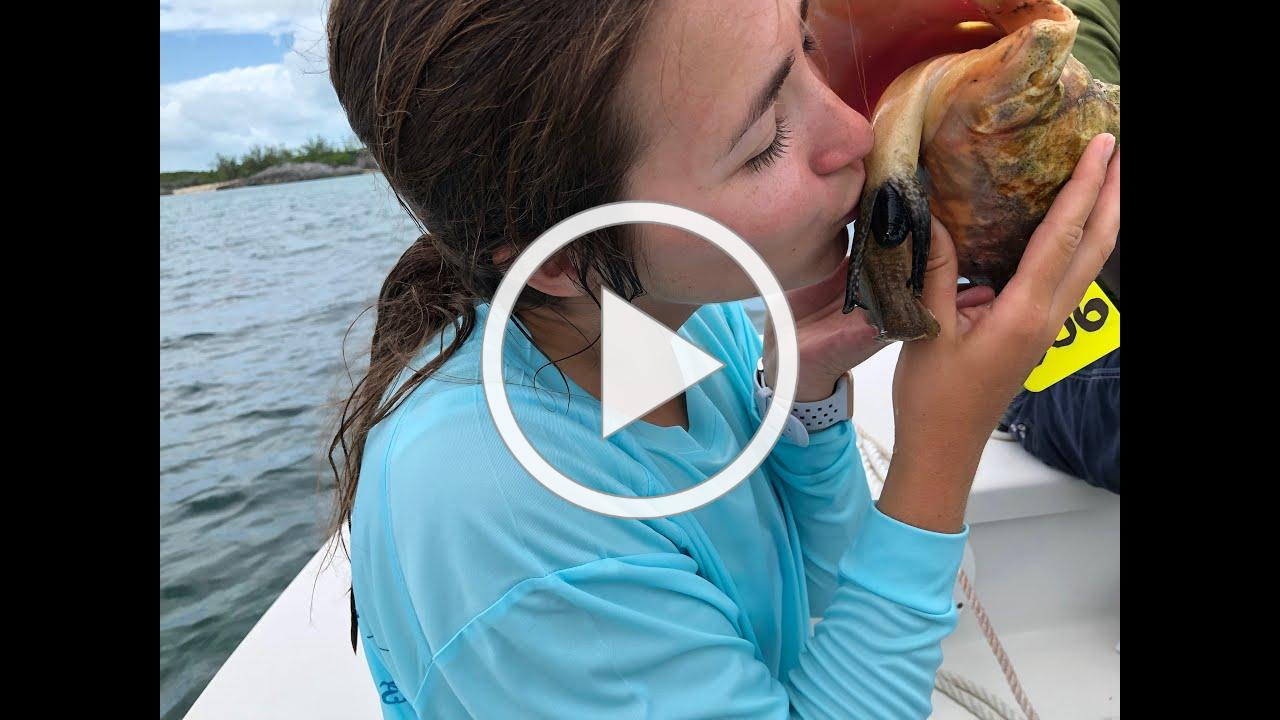Research leads #FAUGrad to earn the name 'Conch Girl'