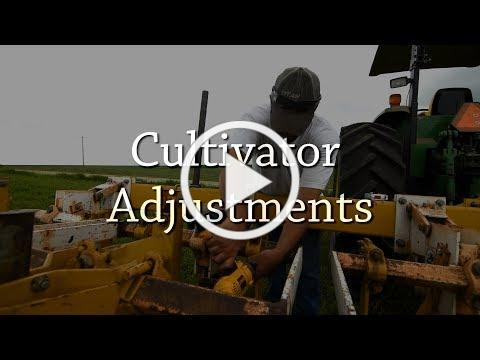 Cultivator Adjustments - Organic Weed Control