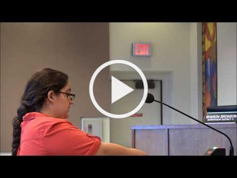 Mother, entrepreneur, and concerned citizen addresses the Pima County Supervisors on 12-18- 2018