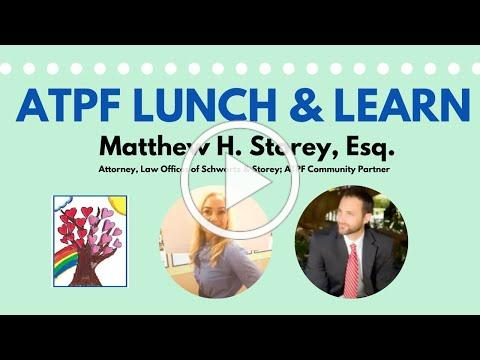 ATPF Lunch & Learn with ATPF Community Partner Matthew Storey