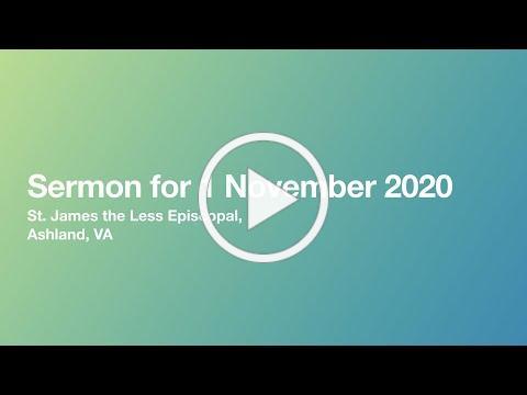 Sermon from 1 November 2020