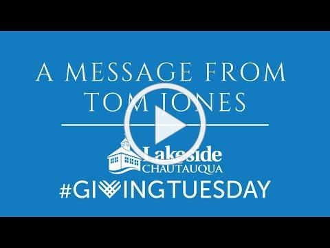 A Special Message from Tom Jones #GivingTuesday 2020