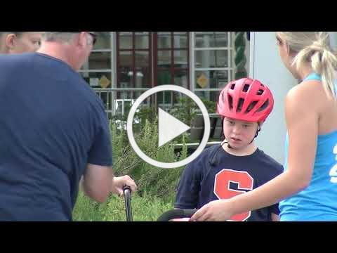 Down Syndrome Group NCDSA hosts a Bike camp for individuals with Down syndrome.