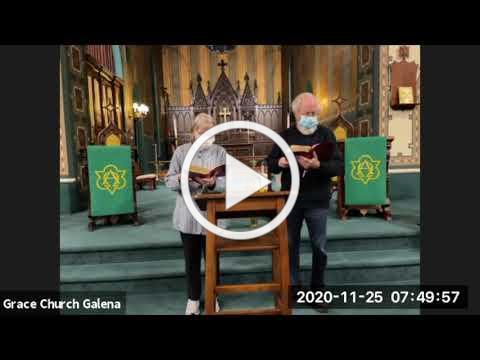 Grace Episcopal Church, Galena IL, Wednesday Morning Prayer 11 25 2020