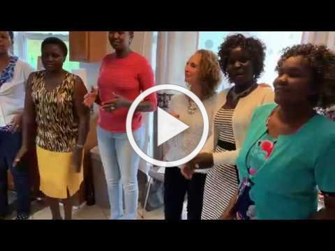 Singing in the Kitchen at Fr. Philip/Family's House Blessing