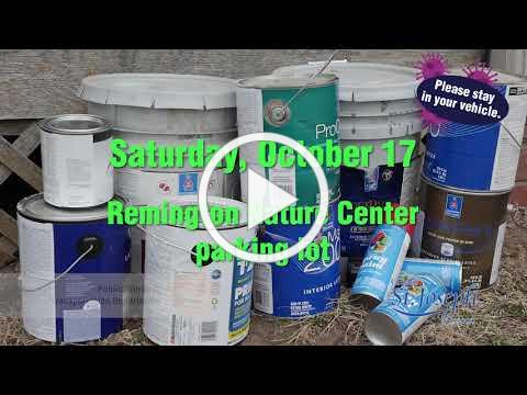 Household Hazardous Waste and Electronics Collection-Fall 2020