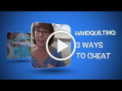 3 Ways to Cheat: Hand Quilting Tutorial